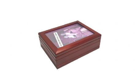 Wooden Photo Frame Musical Jewellery Box 16071